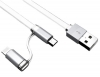 KABEL USB IPHONE 5 5S 6 6S LIGHTNING + microUSB 1M